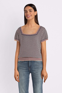 Pull KING LOUIE 03900 SQUARE NECK TOP Bleu