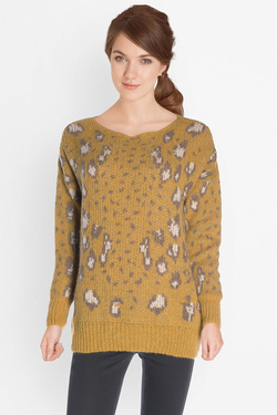 Pull LA FEE MARABOUTEE FB1073 Jaune moutarde