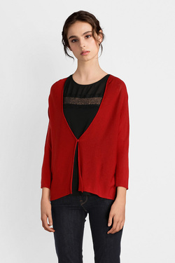 Gilet LA FEE MARABOUTEE FB3135 Rouge
