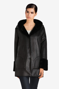 Manteau LA FEE MARABOUTEE FB5011 Noir