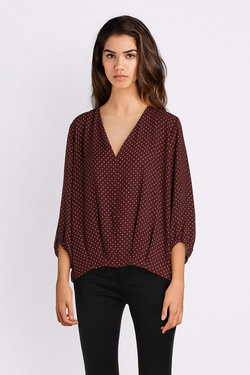 Blouse LA FEE MARABOUTEE FB5046 Rouge bordeaux