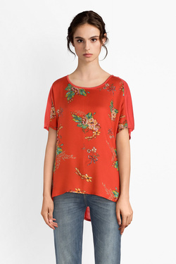 Tee-shirt LA FEE MARABOUTEE FB7851 Rouge