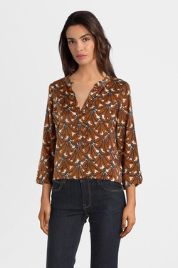 Blouse LA FEE MARABOUTEE FC1722 Marron