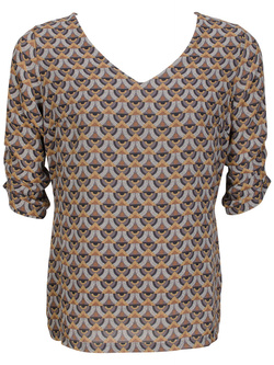 LA FEE MARABOUTEE Blouse marron FA1263