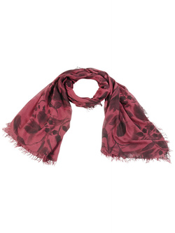 LA FEE MARABOUTEE Foulard rouge bordeaux FA1890