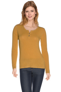 LA FEE MARABOUTEE - Tee-shirt manches longuesFA5423Jaune moutarde