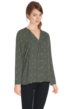 Chemise manches longues LA FEE MARABOUTEE FA5469 Vert olive