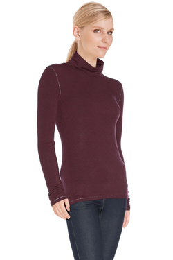 LA FEE MARABOUTEE - PullFA5733Rouge bordeaux