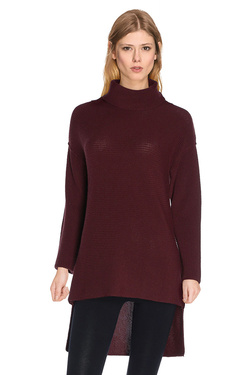 LA FEE MARABOUTEE - PullFA5646Rouge bordeaux