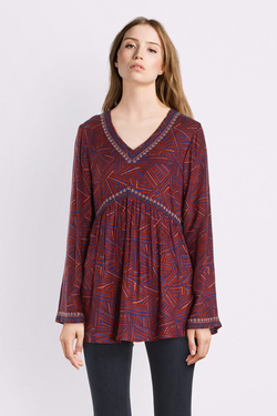 Blouse LA FIANCEE DU MEKONG HFTG TUNIQUE GARMA Rouge bordeaux