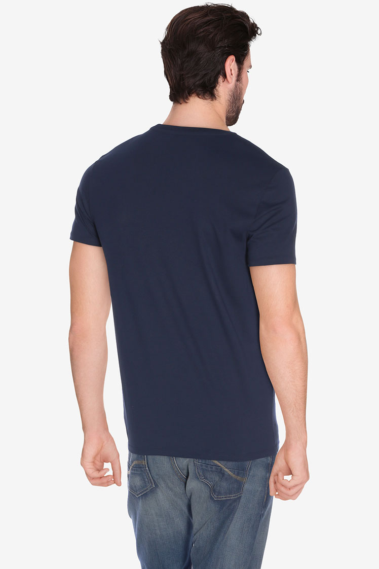 lacoste tee shirt th6604 bleu marine homme des marques. Black Bedroom Furniture Sets. Home Design Ideas