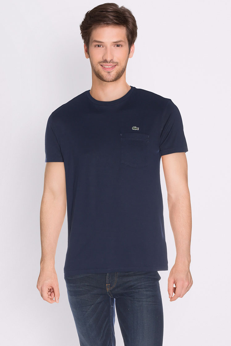 lacoste tee shirt th 8113 bleu marine homme des marques. Black Bedroom Furniture Sets. Home Design Ideas