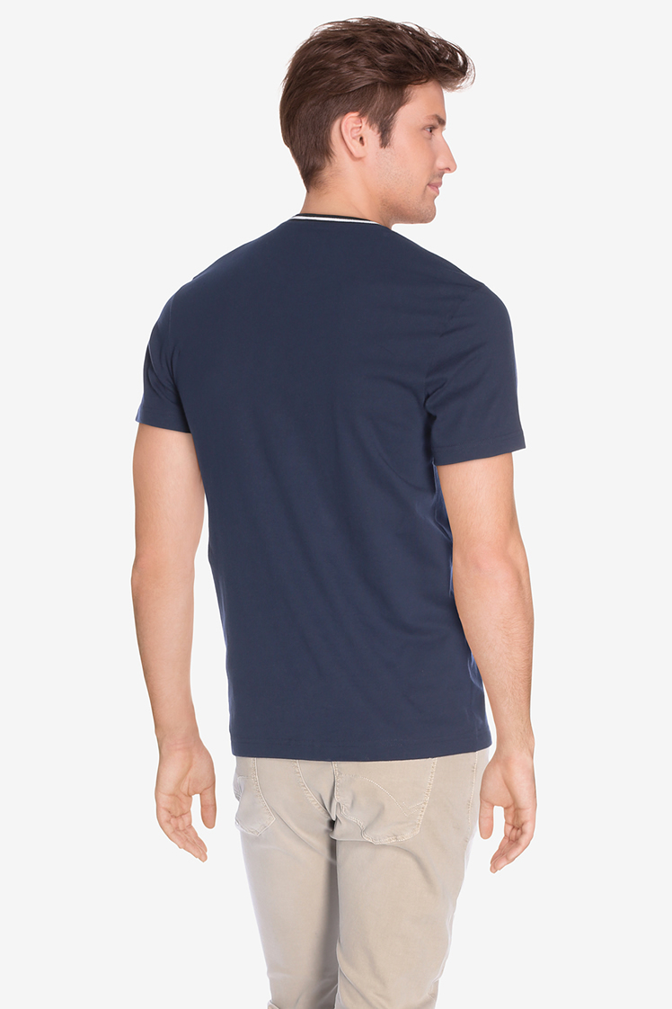 lacoste tee shirt th0010 bleu marine homme des marques. Black Bedroom Furniture Sets. Home Design Ideas