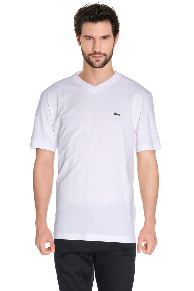 lacoste tee shirt th 7419 blanc homme des marques et vous. Black Bedroom Furniture Sets. Home Design Ideas