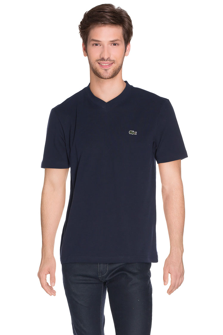 lacoste tee shirt th 7419 bleu marine homme des marques. Black Bedroom Furniture Sets. Home Design Ideas