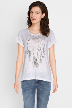 Tee-shirt LE TEMPS DES CERISES NIGHT CATCH Beige