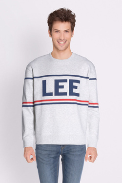 Sweat-shirt LEE L80AQV03 Gris clair