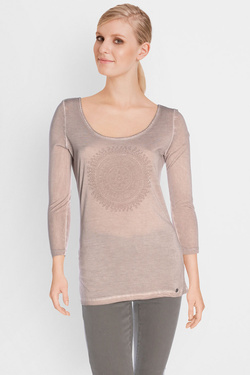 Tee-shirt manches longues LES PTITES BOMBES S174302 Taupe
