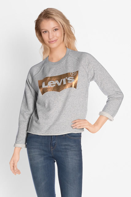 levi 39 s sweat shirt 35940 0003 gris femme des marques et vous. Black Bedroom Furniture Sets. Home Design Ideas