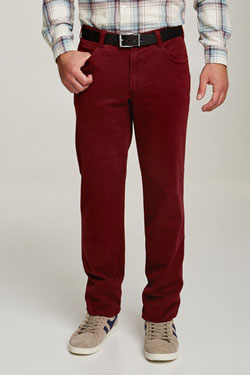 Pantalon M.E.N.S. DALLAS U2046 Rouge bordeaux