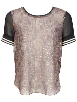 MAISON SCOTCH Tee-shirt marron 15240753707