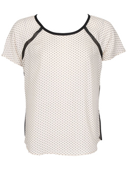 MAISON SCOTCH Tee-shirt avec collier ecru 15240853712