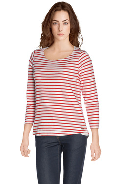 MAISON SCOTCH Tee-shirt manches 3/4 rouge 128371
