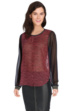 MAISON SCOTCH - Blouse102173Rouge bordeaux
