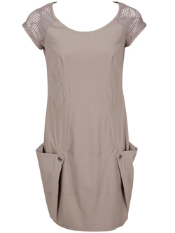 MC PLANET Robe taupe 88156