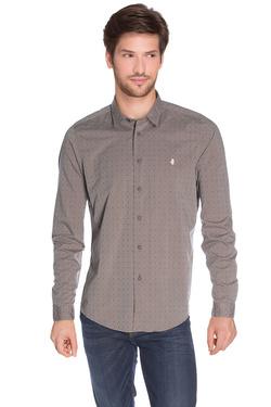 MCS - Chemise manches longues8199Taupe