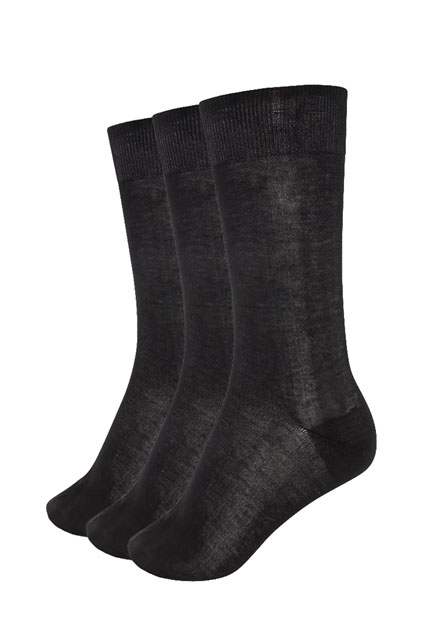 3 paires de chaussettes 100% coton MEN ACCESSORIES