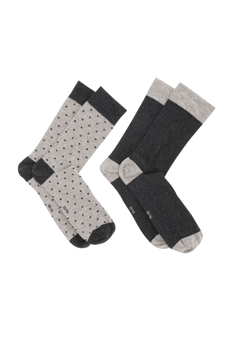 au masculin chaussettes 49ma1ap402 gris homme des marques et vous. Black Bedroom Furniture Sets. Home Design Ideas