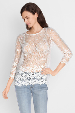 MOLLY BRACKEN - Tee-shirt manches longuesG256P17Blanc