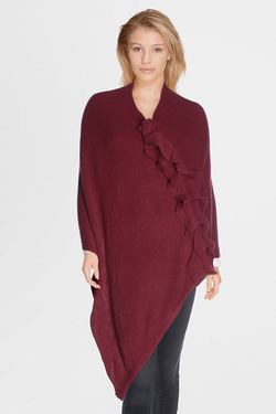Poncho MOLLY BRACKEN B112A17 Rouge bordeaux