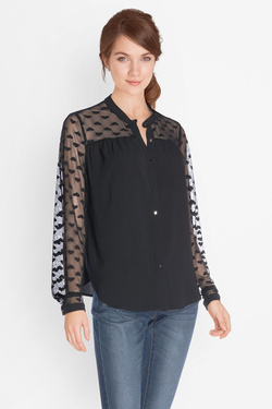 Chemise manches longues MOLLY BRACKEN G292A17 Noir