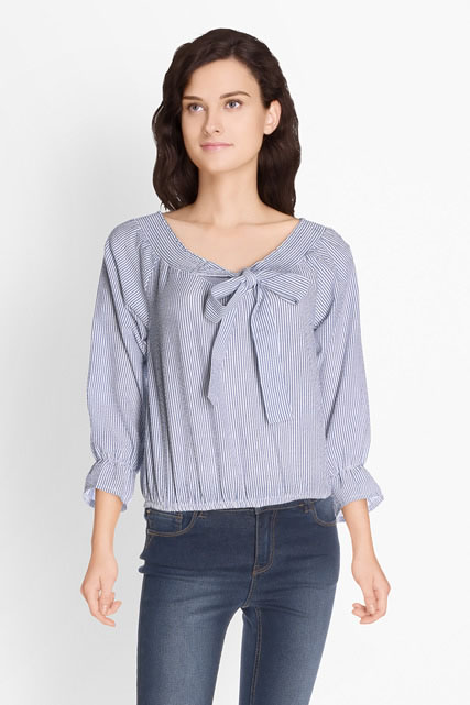 Blouse fines rayures MOLLY BRACKEN