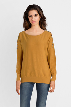 Pull MOLLY BRACKEN E993A18 Jaune moutarde