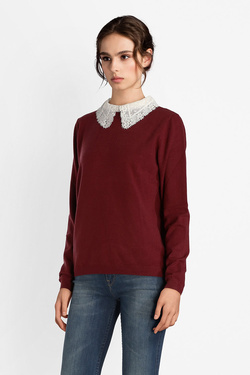Pull MOLLY BRACKEN E1004A18 Rouge bordeaux