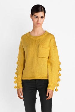 Pull MOLLY BRACKEN SL319A18 Jaune moutarde