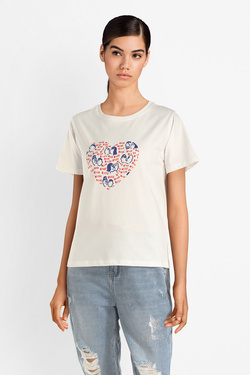 Tee-shirt MOLLY BRACKEN EL192P19 Blanc