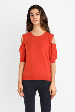 Pull MOLLY BRACKEN LA259P19 Rouge vermillon