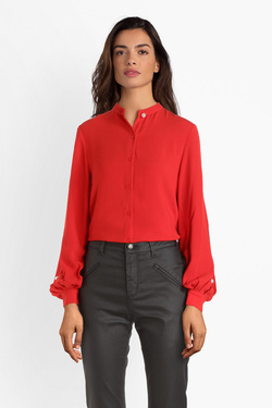 Chemise manches longues MOLLY BRACKEN T1046H19 Rouge