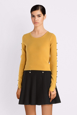Pull MOLLY BRACKEN E1174A19 Jaune moutarde