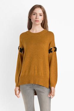 Pull MOLLY BRACKEN T775A19 Jaune moutarde