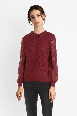 Pull MOLLY BRACKEN S3521A19 Rouge bordeaux