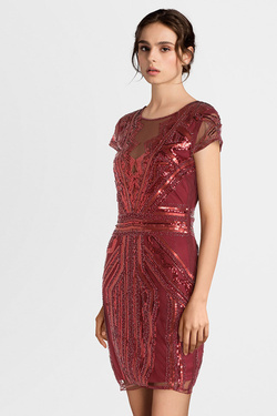 Robe MOLLY BRACKEN W733A19 Rouge bordeaux