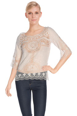 MOLLY BRACKEN - Tee-shirtS2774E16Beige clair