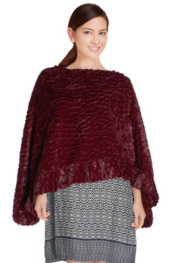 Poncho MOLLY BRACKEN BC114A16 Rouge