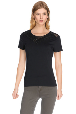 MORGAN - Tee-shirt162-DEFOR.NNoir