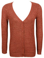 NICE THINGS Gilet buste long rouge bordeaux WK8048